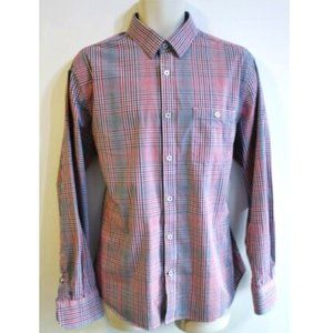 Express Casual Fitted Dress Shirt Size L 16 16 1/2